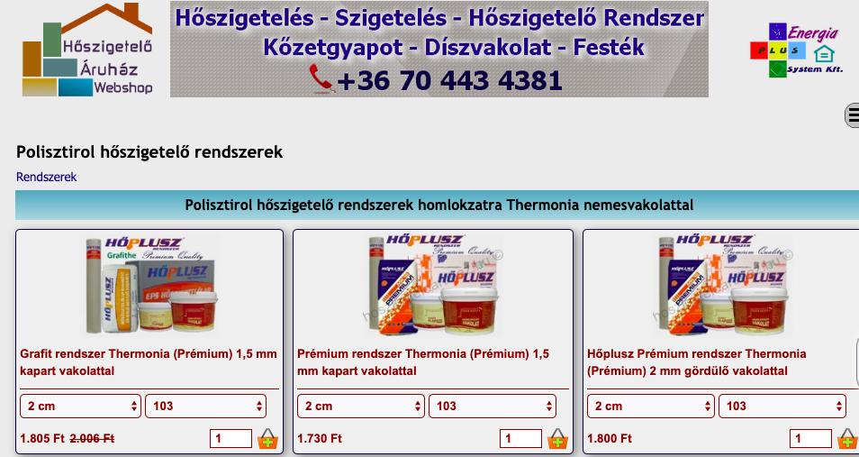 polisztirol hőszigetelő rendszer
