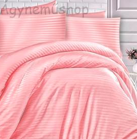 rózsaszín damaszt ágynemű